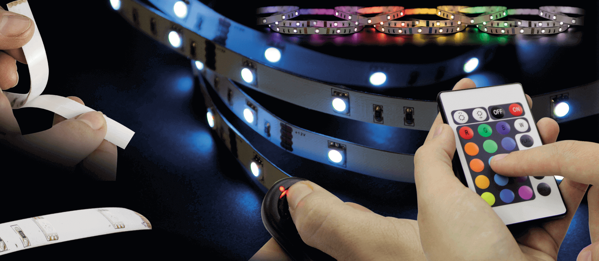 Jamara 178933 Stripe Typ 3528 Indoor 5m gelb 30 LED pro Meter